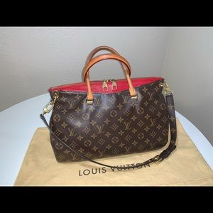 Authentic Louis Vuitton Pallas mm shoulder tote